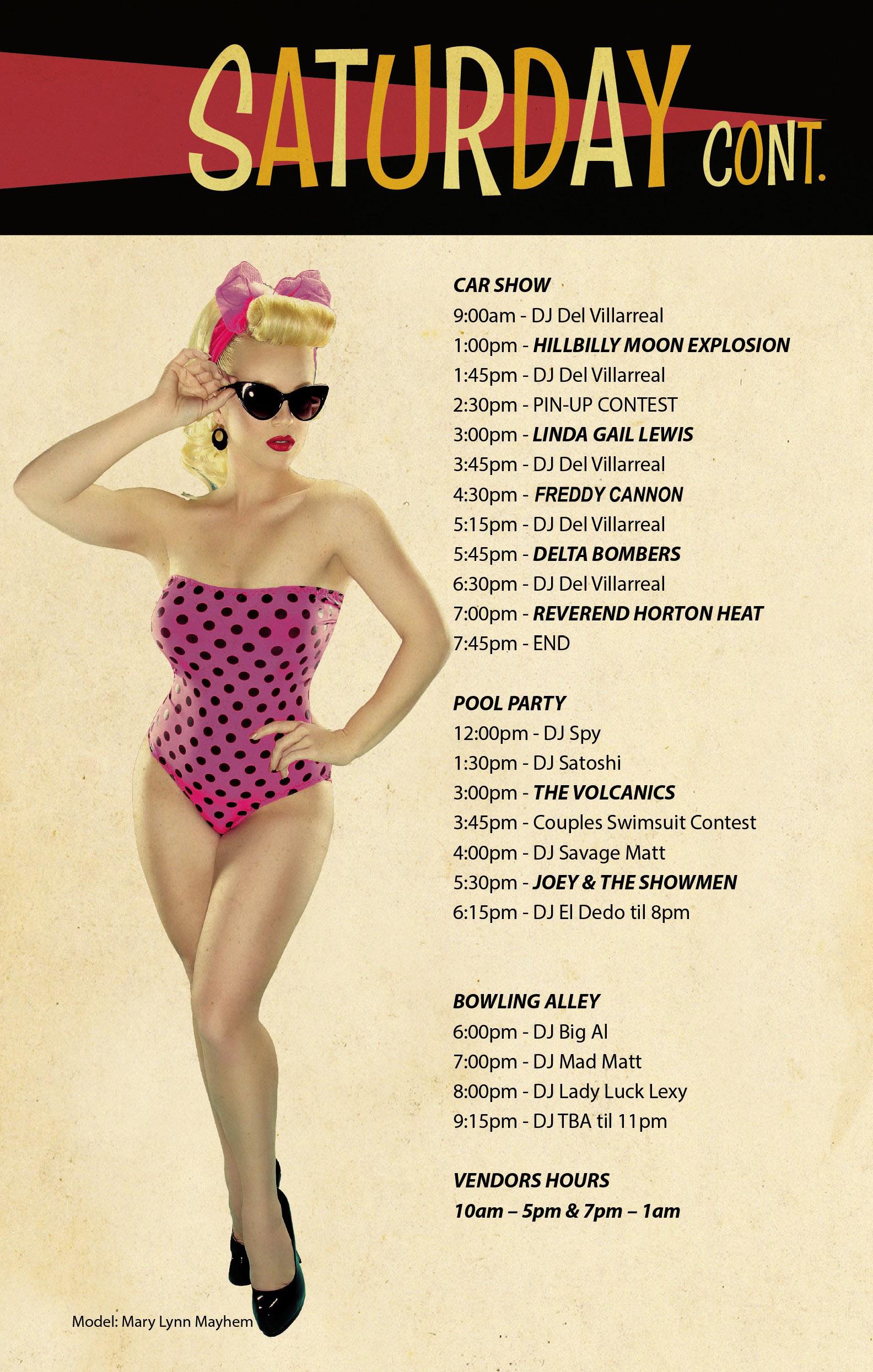 f844ad9d3 Viva Las Vegas: Schedule of Events